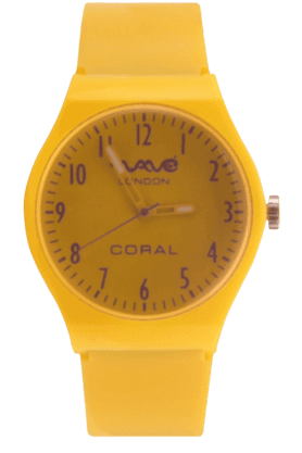 Coral Neon Yellow Unisex Watch