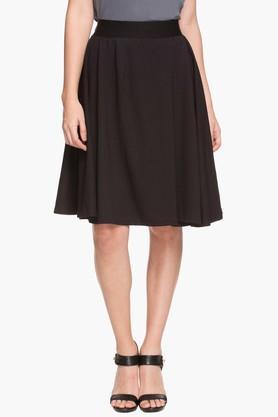 ELLEWomens Knee-length Flared Skirt