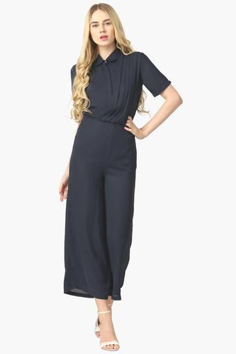 385d10a379d4 Womens Collared Solid Jumpsuit