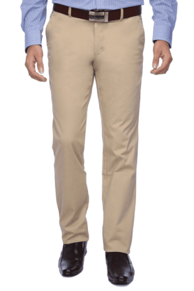 LOUIS PHILIPPE SPORTS Mens Flat Front Slim Fit Solid Chinos - 9962660