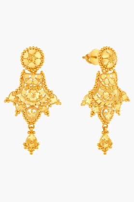 MALABAR GOLD AND DIAMONDSWomens 22 KT Gold Earrings - 201203640