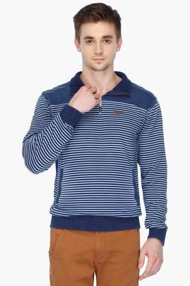 IZODMens Zip Through Stripe Sweatshirt