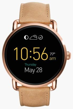 FOSSIL Q Wander Touchscreen Light Brown Leather Womens Smartwatch