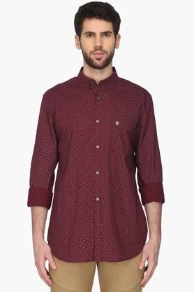French Connection Formal Shirts (Men's) - Mens Slim Fit Printed Shirt (Connery Fit)