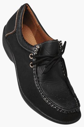 HAUTE CURRYWomens Leather Casual Ballerina Shoe