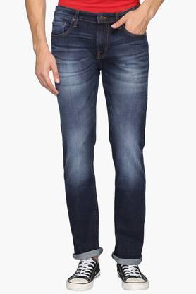 Aeropostale Jeans (Men's) - Mens Slim Fit 5 Pocket Heavy Wash Jeans