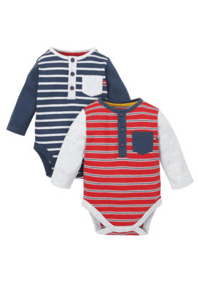 Baby stripe Bodysuits - Pack of 2