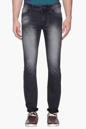FLYING MACHINE Mens Skinny Fit Heavy Wash Jeans (Jackson Fit) - 201331530