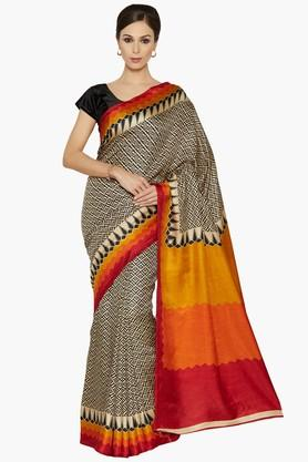 Women Tribal Print Pashmina Saree