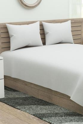 Slub Double Bed Sheet with Pillow Cover