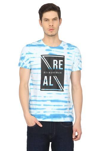 Mens Round Neck Graphic Print T-Shirt