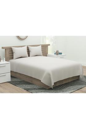Solid Flat Sheet with Pillow Cover