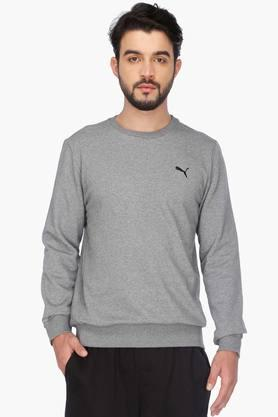 PUMAMens Full Sleeves Round Neck Solid T-Shirt