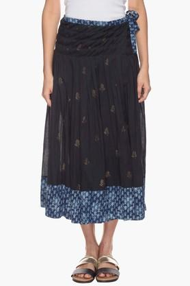 BOHEMYAN BLUE Womens Printed Flared Skirt