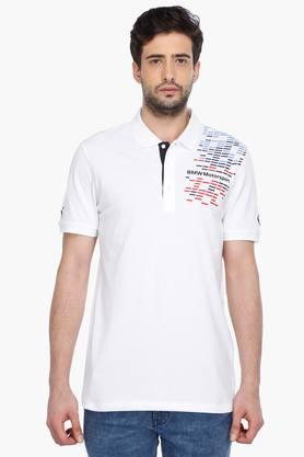 PUMA Mens Short Sleeves Graphic Polo T-Shirt