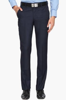 LOUIS PHILIPPEMens Regular Fit 4 Pocket Solid Formal Trousers (Contemporary Fit)