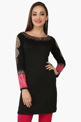 IRA SOLEILWomens Slim Fit Printed Kurta (Buy Any Ira Soleil Product And Get A Necklace Free) - 201787478
