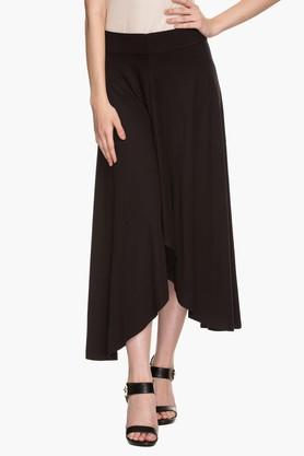 STOP Womens Solid Asymmetrical Skirt