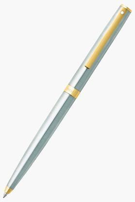 WILLIAM PENN Sagaris Gold Trim Silver Ballpoint Pen