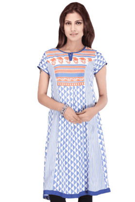 STOP Women Cotton Kurta - 9860678