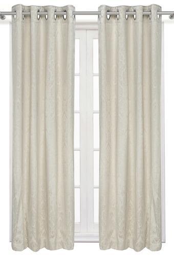 Self Printed Window Curtain Pack of 2