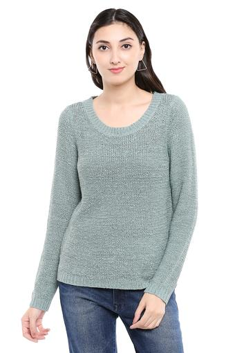 Womens Round Neck Knitted Pullover