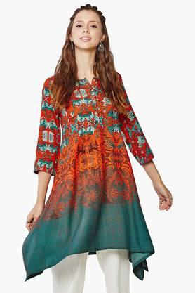 GLOBAL DESI Womens Printed Kurta - 201652477