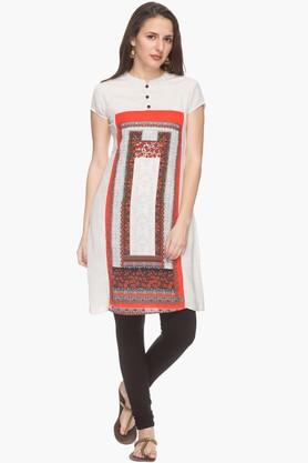 IMARA Womens Mandarin Neck Printed Kurta (Buy Worth Rs.2500 & Get Rs.500. Off)