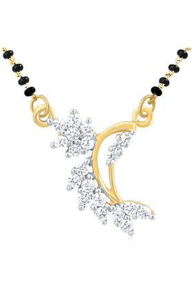 MAHI Gold Plated Mangalsutra Pendant With CZ For Women PS1191427G