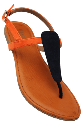 LIFEWomens Daily Wear Ankle Buckle Closure Flat Sandal