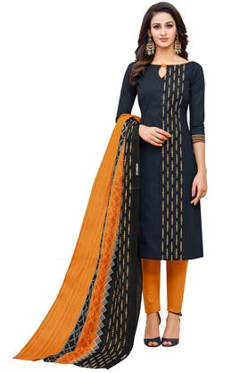 Womens Printed Salwar Suit Dress Material with Dupatta