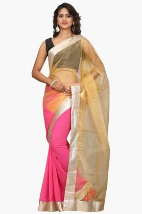 DEMARCA Women Georgette & Net Designer Saree