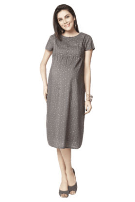 NINE MATERNITY Maternity Printed Nursing Gown