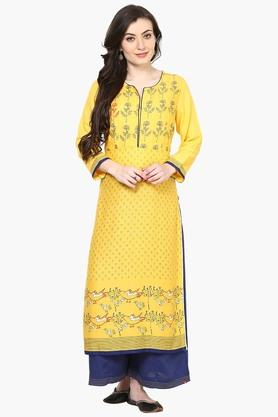 BIBA Womens Viscose Straight Kurta - 202178435