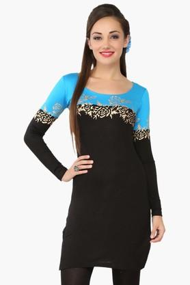 IRA SOLEIL Womens Slim Fit Colour Block Kurta (Buy Any Ira Soleil Product And Get A Charms Bracelet Free)