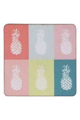Square Tropical Sphere Printed Coaster - Set of 7