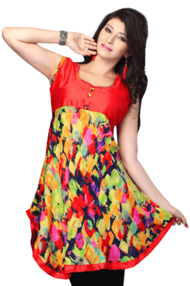 DEMARCAWomens Printed Kurta (Buy Any Demarca Product & Get A Pair Of Matching Earrings Free) - 200936880