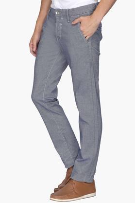 Mens Slim Fit 5 Pocket Printed Chinos
