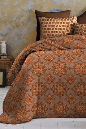 Cotton King XL Digital Printed Bedsheet With Pillow Cover - 202448892