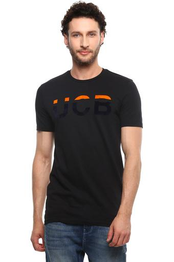 UNITED COLORS OF BENETTON -  Black T-shirts - Main