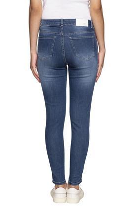 Womens 5 Pocket Mild Wash Side Tape Jeans