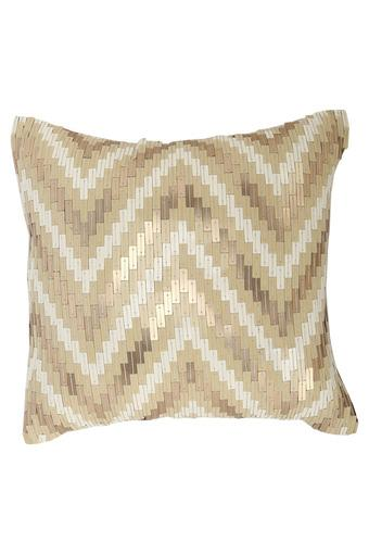 Square Embellished Stripe Cushion Cover