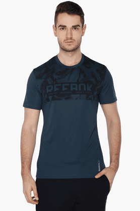 "REEBOK Mens Short Sleeves Crew Printed T-Shirt & In Description To ""crew Neck"""