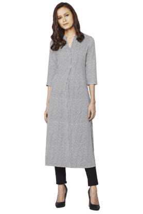 AND Womens Striped Kurta