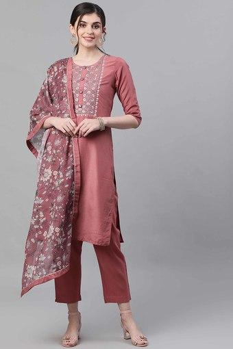 ISHIN -  MauveIndianwear Sets - Main