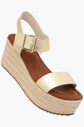 STEVE MADDEN Womens Casual Wear Buckle Closure Wedges  ...