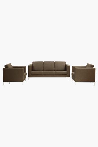 Light Brown Fabric Sofa (3-1-1 Sofa Set )