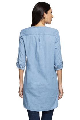 Womens Mandarin Collar Assorted Shirt