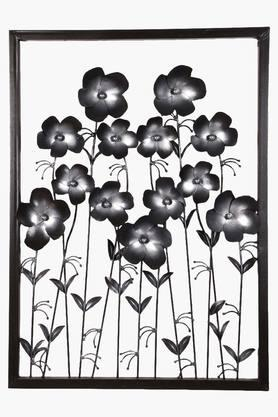 MALHAR Wrought Iron Ton Daisy Silver Flower Wall Decor