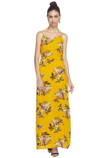 Womens Spaghetti Neck Printed Maxi Dress